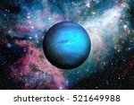 Small photo of Solar System - Neptune. It is the eighth and farthest planet from the Sun in the Solar System. It is a giant planet. Neptune has 14 known satellites. Elements of this image furnished by NASA.