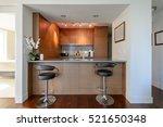 bright modern kitchen with... | Shutterstock . vector #521650348