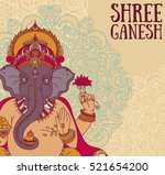 poster with lord ganesha  can... | Shutterstock .eps vector #521654200