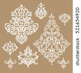 set of five ornate foliate and... | Shutterstock .eps vector #521654920