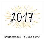 vector brush calligraphy 2017.... | Shutterstock .eps vector #521655190