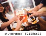 people are celebrating beer... | Shutterstock . vector #521656633
