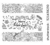 hand drawn doodles merry... | Shutterstock .eps vector #521658250