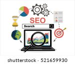 flat illustration web analytics ... | Shutterstock .eps vector #521659930