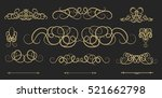vintage decor elements and... | Shutterstock .eps vector #521662798