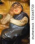 Vintage Candle Carved Figurine...