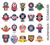 set soccer football badge and... | Shutterstock .eps vector #521666188