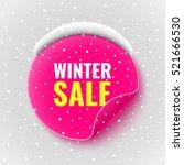 winter sale banner. pink round... | Shutterstock .eps vector #521666530