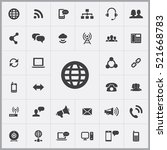 globe icon. communication icons ... | Shutterstock .eps vector #521668783