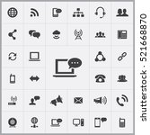 chat icon. communication icons... | Shutterstock .eps vector #521668870