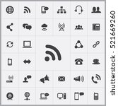 wifi icon. communication icons... | Shutterstock .eps vector #521669260