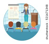 business lecture concept vector.... | Shutterstock .eps vector #521671348