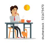 fatigue after work day concept. ... | Shutterstock .eps vector #521675470