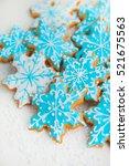 gingerbread cookies | Shutterstock . vector #521675563