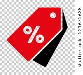percent discount tags icon.... | Shutterstock .eps vector #521675638