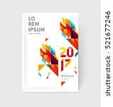 white modern business brochure  ... | Shutterstock .eps vector #521677246