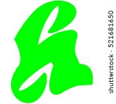 letter h with green color logo... | Shutterstock .eps vector #521681650