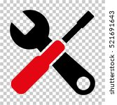 tools icon. vector pictograph... | Shutterstock .eps vector #521691643