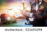 business logistics concept ... | Shutterstock . vector #521693398