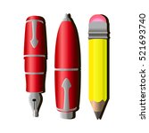 simple yellow pencil and red... | Shutterstock .eps vector #521693740