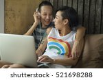 lgbt lesbian couple moments... | Shutterstock . vector #521698288