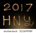 happy new years 2017 fireworks... | Shutterstock . vector #521699989