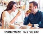 happy loving couple enjoying... | Shutterstock . vector #521701180