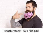 handsome bearded man with... | Shutterstock . vector #521706130