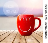 red coffee cup empty front... | Shutterstock . vector #521706523