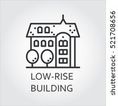 low rise building icon drawn in ... | Shutterstock .eps vector #521708656