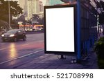 blank advertising billboard | Shutterstock . vector #521708998