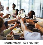 food catering cuisine culinary... | Shutterstock . vector #521709709