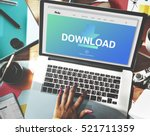 download files transfer sharing ... | Shutterstock . vector #521711359
