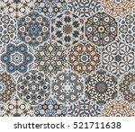 eastern seamless pattern tiles. ... | Shutterstock .eps vector #521711638