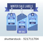 winter sale labels and badges | Shutterstock .eps vector #521711704