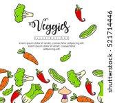 vegetables banner background   Shutterstock .eps vector #521714446