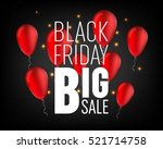 abstract vector black friday... | Shutterstock .eps vector #521714758
