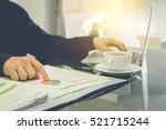 business analysis data... | Shutterstock . vector #521715244
