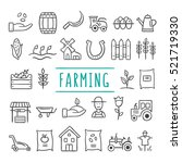 hand drawn farming and... | Shutterstock .eps vector #521719330