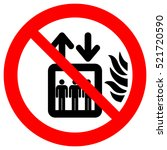 do not use lift in the event of ... | Shutterstock .eps vector #521720590