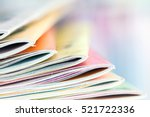 close up edge of colorful... | Shutterstock . vector #521722336