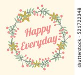 flower wreath. cute floral for... | Shutterstock .eps vector #521722348