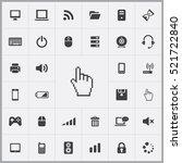 hand cursor icon. computer... | Shutterstock .eps vector #521722840