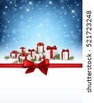 blue christmas background with... | Shutterstock .eps vector #521723248