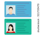 id card or car driver license... | Shutterstock .eps vector #521735470