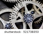macro photo of tooth wheel... | Shutterstock . vector #521738353