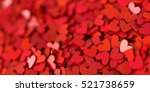 Stock photo infinite hearts background love passion and valentine day theme d rendering horizontal banner 521738659