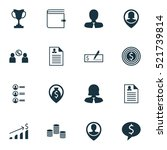 set of 16 hr icons. can be used ... | Shutterstock .eps vector #521739814