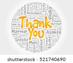 thank you word cloud background ... | Shutterstock .eps vector #521740690