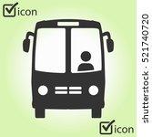 bus icon. schoolbus simbol. | Shutterstock .eps vector #521740720